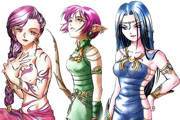 """Valkaria, Glórienn e Tenebra. As deusas mais belas..."""